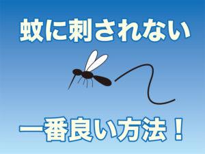 蚊に刺されない方法
